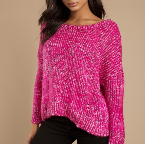 SO Sweaters - 🤩5/$20 SO pink warm knit pullover sweater L crew